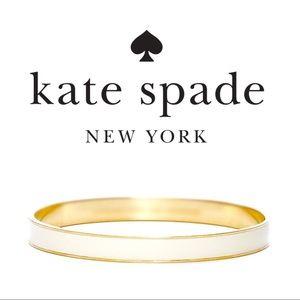 Kate Spade   Ivory Enamel & Gold Bangle Bracelet